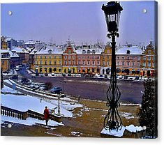 View Of Lublin Castle Steps  Acrylic Print by Rick Todaro