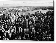 View Of Manhattan East River Looking Towards Queens New York City Usa Acrylic Print by Joe Fox