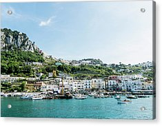 View Of Marina Grande From The Sea Acrylic Print by Arnt Haug / Look-foto