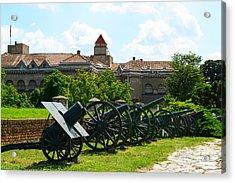 View Of Military Museum In Fortress Kalemegdan In Belgrade Serb Acrylic Print by Aleksandar Mijatovic