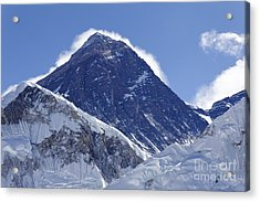 View Of Mount Everest From The Summit Of Kala Pathar In The Everest Region Of Nepal Acrylic Print by Robert Preston