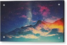 View Of Mountain Covered With Clouds Acrylic Print by Haydn Gawer / Eyeem
