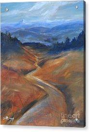 View Of Mt Hood Acrylic Print by Sally Simon