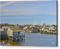 View Of Nantucket From The Harbor Acrylic Print by Marianne Campolongo