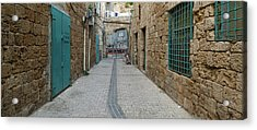 View Of Narrow Alley, Acre Akko, Israel Acrylic Print