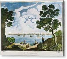 View Of New York 1801 Acrylic Print by Granger