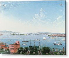 View Of New York Harbor From Brooklyn Heights Acrylic Print