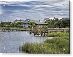 View Of Pawleys From The Creek Acrylic Print by Sandra Anderson
