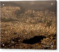 View Of Quito From The Teleferiqo Acrylic Print by Eleanor Abramson