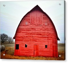 View Of Red Barn Acrylic Print by Shannon Ramos / Eyeem