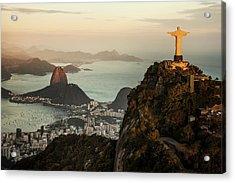 View Of Rio De Janeiro At Sunset Acrylic Print