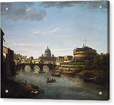 View Of Rome From The Tiber Acrylic Print by William Marlow