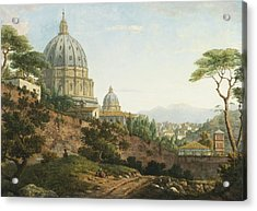 View Of Saint Peter's Rome Acrylic Print by Celestial Images