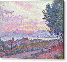 View Of Saint Tropez Acrylic Print by Paul Signac