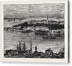 View Of Seraglio Point, Constantinople, Istanbul Acrylic Print