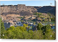 View Of Shoshone Falls In Twin Falls Acrylic Print by Panoramic Images