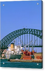 View Of Sydney Harbour Showing Steel Bridge. Acrylic Print
