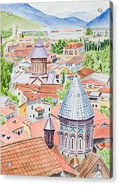 View Of Tbilisi-republic Of Georgia Acrylic Print