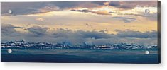 View Of The Alpsjura Switzerland Acrylic Print by Yves Marcoux
