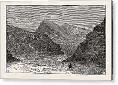 View Of The Bolan Pass Acrylic Print by English School