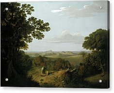 View Of The Campi Flegrei From The Camaldolese Convent Acrylic Print by Litz Collection