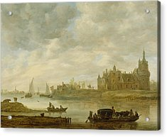View Of The Castle Of Wijk At Duurstede Acrylic Print by Jan van Goyen