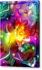 View Of The Colorful World By Nico Bielow Acrylic Print