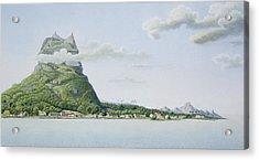 View Of The Island Of Bora Bora Acrylic Print by Antoine Lejeune and Chazal