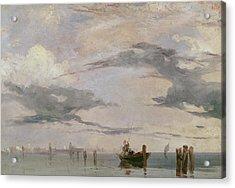 View Of The Lagoon Near Venice, 1826  Acrylic Print
