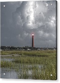 View Of The Lighthouse  Acrylic Print