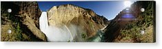 View Of The Lower Yellowstone Falls Acrylic Print by Panoramic Images