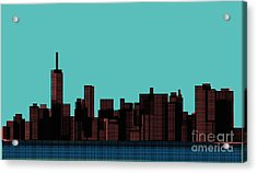 View Of The Manhattan In The Pop Art Acrylic Print by Finlandi