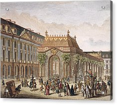 View Of The Place De Louis Le Grand Acrylic Print by French School