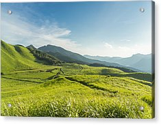 View Of The Plateau,soni Kougen In Japan Acrylic Print by Yagi-Studio