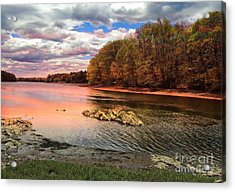 View Of The Salmon River Acrylic Print