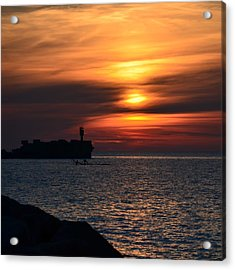 View Of The Sunset Acrylic Print by Gynt