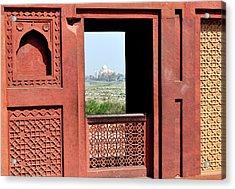 View Of The Taj Mahal Acrylic Print