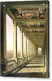 View Of The Third Floor Loggia Acrylic Print by Italian School