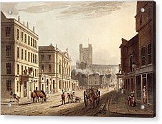 View Of The Town Hall, Market And Abbey Acrylic Print by John Claude Nattes