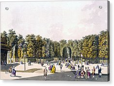 View Of The Walk Of Sighs At Augarten Acrylic Print by Johann Ziegler