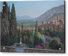 View Of Tivoli From The Terrace Of Villa D'este Acrylic Print by Korobkin Anatoly