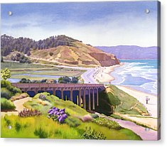View Of Torrey Pines Acrylic Print by Mary Helmreich