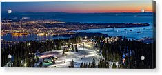 View Of Vancouver City From Grouse Mountain Acrylic Print by Pierre Leclerc Photography