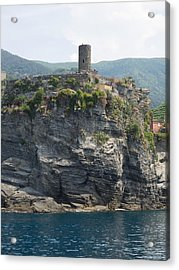 View Of Watchtower At Vernazza, La Acrylic Print by Panoramic Images