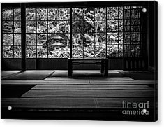 View On And Old Temple Garden Acrylic Print by Dean Harte