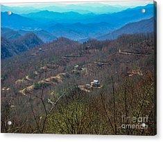 View On Blue Ridge Parkway Acrylic Print by Randi Shenkman