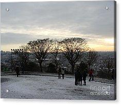 View Over Paris Acrylic Print