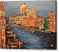 View Over The Canal Acrylic Print by Paul Benson