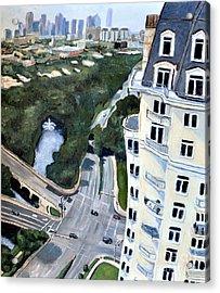 View Over Turtle Creek Acrylic Print by Sandra Mucha