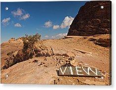 View Point Sign, Ad Deir Monastery Acrylic Print